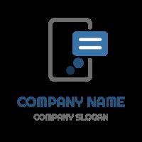 Phone Message Notification Logo Design