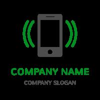 Ringing Phone Vibrations Logo Design