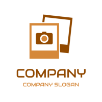 Two Photography Frames with Camera Logo Design