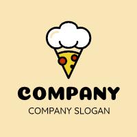 Pizza Logo | Chef Pepperoni Pizza Slice