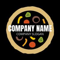Pizza Logo | Rainbow Vegetables and Dough
