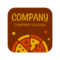 Red and Yellow Pizza Packaging Logo Design