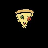 Pizza Logo | Sparkling One Line Margherita
