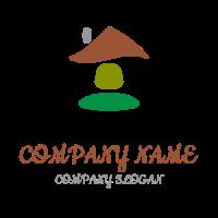 Minimalistic House of Four Elements Logo Design