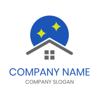 Realestate & Property Logo | Starry Night and White Cottage