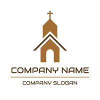 Minimalistic Church Silhouette Logo Design