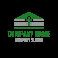 Prayer House in Minimalistic Design Logo Design