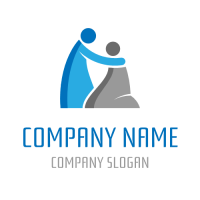 Silhouettes of Confessing People Logo Design