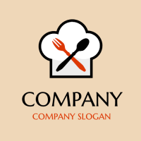 Chefs Hat with Tableware Logo Design