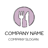Restaurant Logo | Elegant Fork and Knife Silhouette