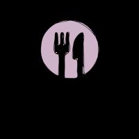 Elegant Fork and Knife Silhouette Logo Design
