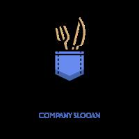 Fork and Knife in the Pocket Logo Design