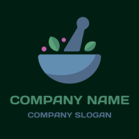 Restaurant Logo | Mortar and Pestle with Herbs