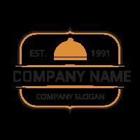 Restaurant Logo | Retro Orange Restaurant