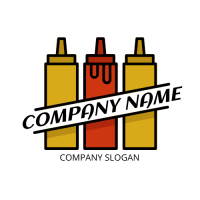 Two Mustards and One Ketchup Logo Design