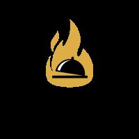 Very Hot Salver with Cover Inside the Fire Logo Design