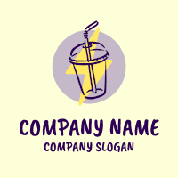Energy Boost Purple Beverage Logo Design