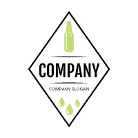 Rhombus Lime Sparkling Water Logo Design