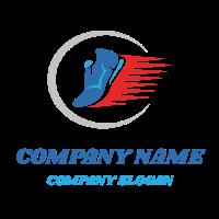 Fast Running Sport Sneakers Logo Design