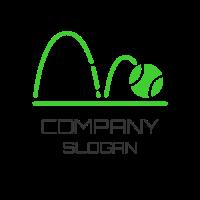 Jumping Green Tennis Ball Logo Design