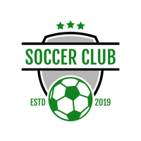 Soccer Club Green Emblem Logo Design