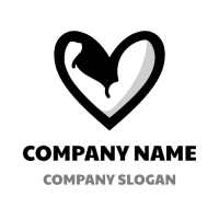 Strong Arm and Black Heart Logo Design