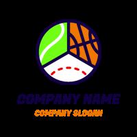 Three Different Sports Balls Logo Design