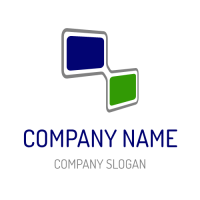 Technology & Science Logo | Two Connected Rectangular Elements