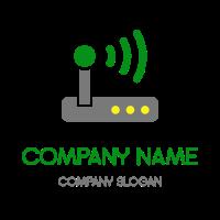 Wifi Router Transmitting a Signal Logo Design