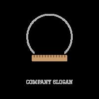 Black Compass and Ruler Logo Design