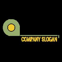 Green Tape Measure for Builder Logo Design