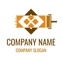 Orange Window and Roller Logo Design