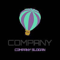 Green and Purple Hot Air Baloon Logo Design