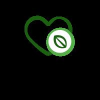 Green Heart with Salad Leaf Logo Design