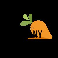 Minimalist Organic Carrot Logo Design