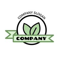 Organic Vegan Food Emblem Logo Design