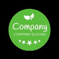 Premium Vegan Restaurant Emblem Logo Design